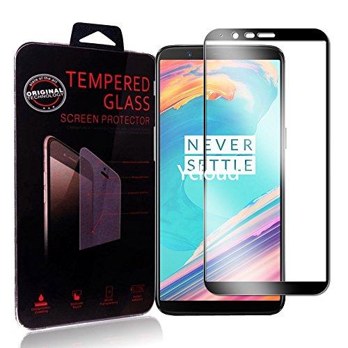 Ycloud Für OnePlus 5T Schutzfolie Panzerglas Displayschutzfolie, Volldeckender vorgespannter Film Anti-Kratz Schutzfolie Für OnePlus 5T - Schwarz