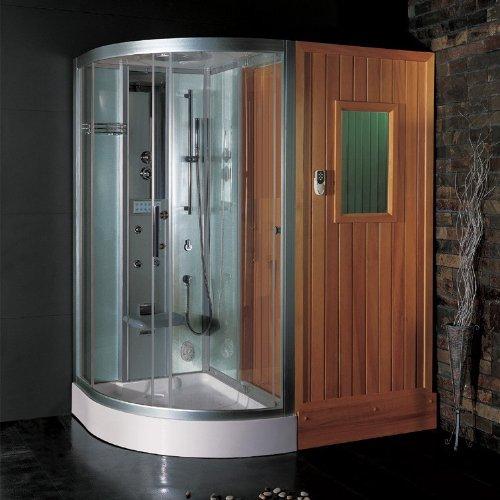 Dampfdusche mit Sauna DS202 weiß/180x120/rechts   F3-Serie