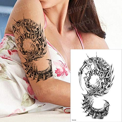 3pcsTattoo Machinery 3D Halloween Tattoo männliche Arm Schulter Tattoo 3pcs-13