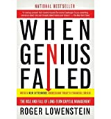 By Roger Lowenstein ( Author ) [ When Genius Failed: The Rise and Fall of Long-Term Capital Management By Oct-2001 Paperback