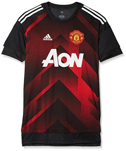 new concept 6fe0e dcdee adidas Mufc H Preshi Camiseta Manchester United Fc, Hombre, Rojo (Rojrea    Negro