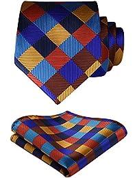 Hisdern Animal Patterns Wedding Party Tie Panuelo Corbata de los hombres y el juego de bolsillo cuadrado LuwBDIUr