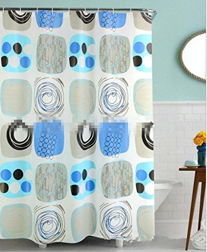 GYMNLJY PEVA Stampa tenda doccia Bagno Doccia Ombra per vasca da bagno tagliato Hanging tenda lavabile multi-formato , 240*180