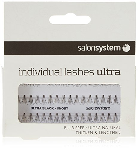 Salon System Individual Bulb Free Ultra Black Short Flare Lashes