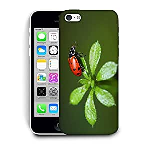 Snoogg Leaves and Red Beatel Designer Protective Phone Back Case Cover for Apple iPhone 5C
