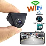 Aide Telecamera di retromarcia Senza Fili HD WiFi Telecamera di retrovisione di Backup Visione Notturna di 150 Gradi Segnale Stabile per Auto/Veicolo/Camion/Furgone/Camper