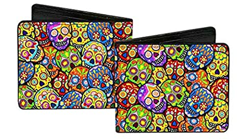 Mexican Day of the Dead Rainbow Sugar Skull Collage Bi-Fold