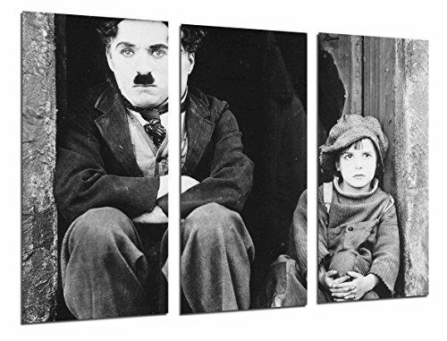 Cuadro Moderno Fotografico Cine Mudo Antiguo Vintage Blanco y Negro, Chaplin, 97 x 63 cm, Ref. 26942