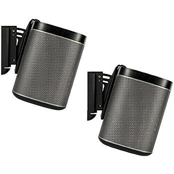 Flexson Tilt and Swivel Wall Mount Bracket for SONOS PLAY:1 - Black (Pack of 2)