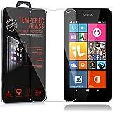 Cadorabo - Protection d'écran en verre trempé pour Nokia Lumia 535 Protection d'écran en verre trempé écran verre de Protection 0,3 mm coins arrondis - HAUTE-TRANSPARENCE