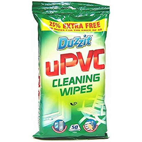 100 UPVC Cleaning Wipes ,2 PACKS of 50