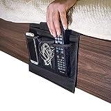 Olixar Bett Ablage/Bett Tasche/Bett Organizer - Zum Aufhängen - Fernbedienung/Buch/Magazin/Handy/Spielzeug/Tasche Aufbewahrungstasche für Bett Sofa 4 Taschen Bedside Organizer - Schwarz