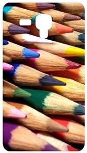 Coloured Pencils Back Cover Case for Samsung Galaxy I8190 / SIII Mini / S3 Mini