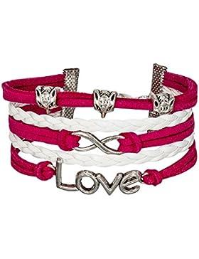 Armband Unendlichkeit Infinity Karma Lederarmband Trend fashioin charm bracelet