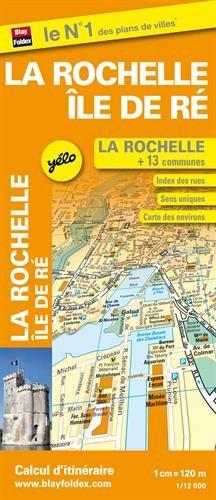 Plan de ville de La Rochelle - Ile de Ré - Echelle : 1/12 000, avec index - Localisation des stations Yélo
