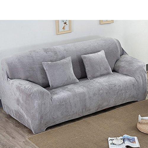 Alta elasticidad Sofá fundas Color sólido,Protector de los muebles para mascotas perro Antideslizante Cubrecanapé Para toda la temporada Sofá composable tiro cojín Para el sofá en forma de u-J 4 Seater (92*118inch)