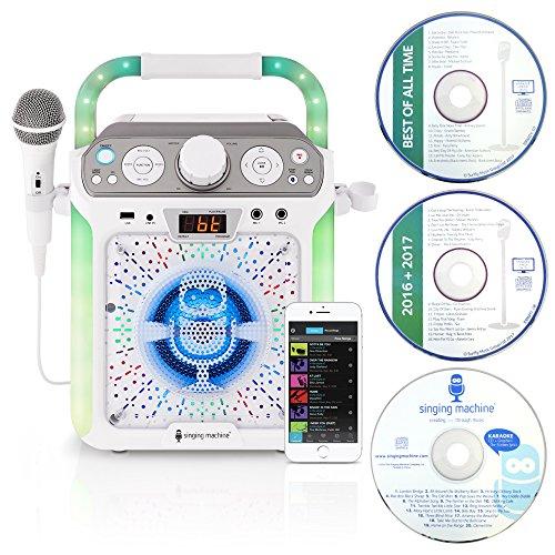 Singing Machine SML682BTW Karaoke Systeme weiß
