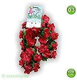 maxxi4you W01171003 Fahrradgirlande Blumengirlande Blume Rottöne 120 cm