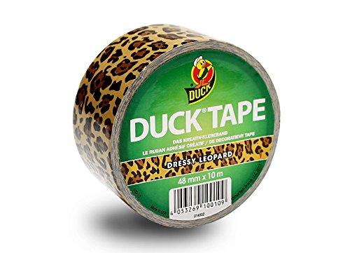 Duck Tape 199887 Gewebeband, 48 mm x 9,1 m, Dressy Leopard