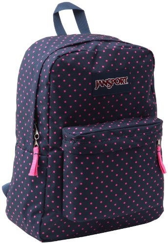 Jansport Superbreak, Mochila casual Unisex adulto, Azul (Navy Dreamweaver), 42 x 33 x 21 cm
