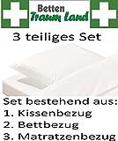 Medi-Tech Pulmanova 3-teiliges Basic Sparset Anti Allergie Encasing Milbenschutz Allergikerbezug 80x80; 135x200 ; 90x200 (Matratzensteghöhe bis 20cm)