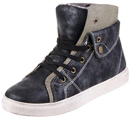 Damen Sneaker Freizeitschuh Damen Sneaker Schnuerschuhe Schuhe Turnschuhe Damenturnschuhe Halbschuhe, Farbe Schwarz, Gr. 36 (Turnschuhe Schnürschuhe Reebok)