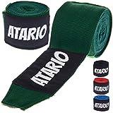 Boxbandagen mit Transportnetz und extra-breitem Klettverschluss für sicheren Halt [3m / 4,5m] - Halb-Elastische Hand Bandagen mit Daumenschlaufe zum Boxen, Kickboxen & MMA - Training Box Bandages Set