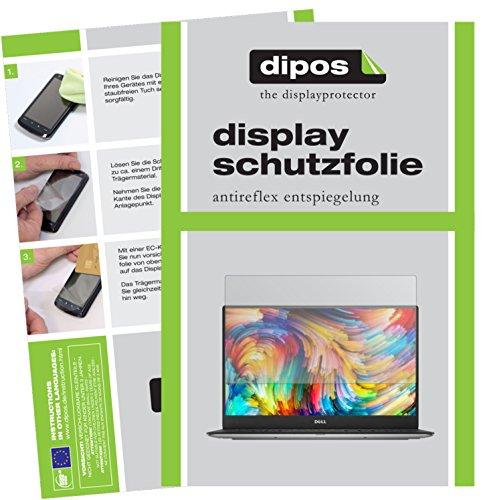 dipos I 2X Schutzfolie matt passend für Dell XPS 13 (9360) Folie Displayschutzfolie
