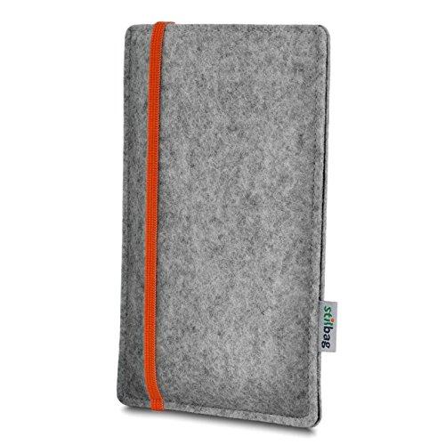Stilbag Filztasche 'LEON' für Apple iPhone 6 - Farbe: gelb-hellgrau orange
