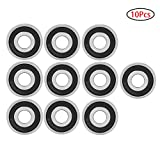 10 pièce 6200-2RS Roulement à Bille,Roulement Skate Skateboard Bearings Roulement...