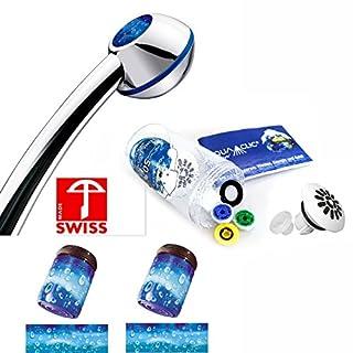 Duschkopf-Set RAINDROPS mit: Handbrause, 3 Reglern, Softspray-Aufsatz, 2 Strahlreglern für Wasserhähne: mehr Druck, z.B. für Durchlauferhitzer, verkalkungsfrei/verkalkungsarm, Energie- +wassersparend