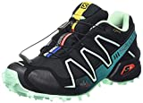 Salomon Damen Speedcross 3 GTX Traillaufschuhe, Schwarz (Black/Lucite Green/Teal Blue F), 37 1/3 EU