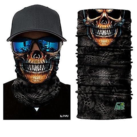 ILOVEDIY Tour de Cou Moto Tete de Mort Clown Crane Cagoule Masque Multifonction Homme Halloween Deguisement (#5)