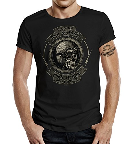 Original GASOLINE BANDIT®-Design Biker T-Shirt: Golden Age Old School-XL (T-shirt Old-school-xl)