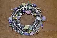 A Gisela Graham ramoscello ghirlanda con pastelli colorati, uova di Pasqua e fiori. Misure Diametro 34cm