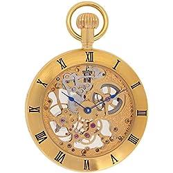 Regent Hills Unisex Brass Pocket Watch With Chain 6444GP