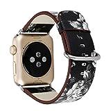 Kaiki für Apple Watch Armband,Lederband Ersatz Uhrenarmband für Apple Watch (38mm, A)