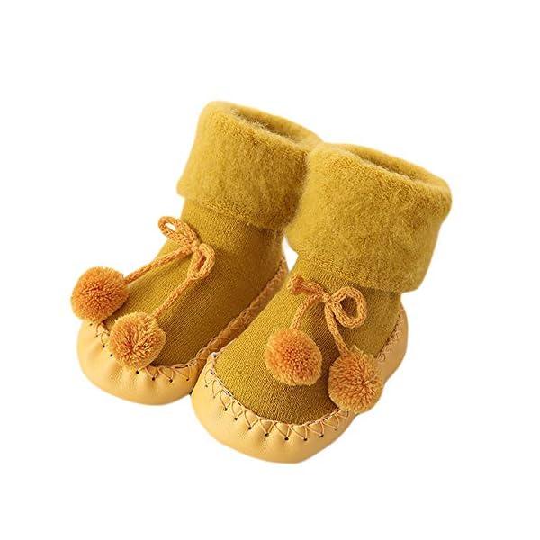 Calcetines Antideslizante Bebe Invierno K-youth Calcetines para Bebé Niñas Niños 0-24 Meses Espesar Zapatos Calcetines… 1