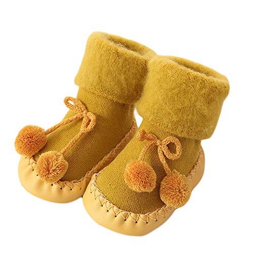 Unisex-Baby Socken Hüttenschuh Baby schönen Herbst Winter warme weiche Sohle Schneeschuhe weiche Krippe Schuhkleinkind Stiefel 0-24 Monat auf