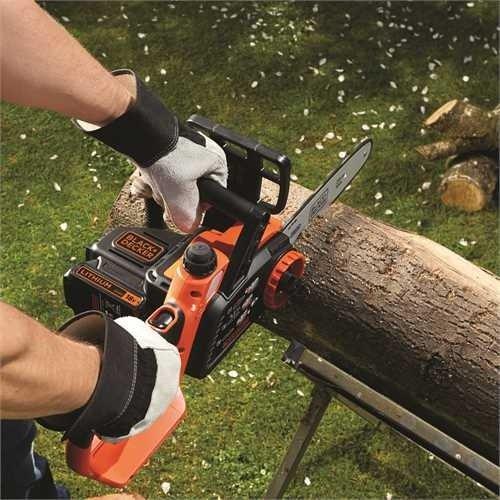 Black+Decker Li Ion Akku-Kettensäge 18V GKC1825L20 mit Akku und Ladegerät / Ideal für Holz- & Gartenarbeiten / 25 cm Schwertlänge - 4
