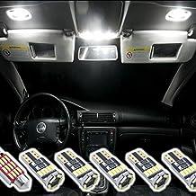 Do!LED 4014 SMD - Juego de iluminación interior led para VW Golf 5 6 7 Passat 3C B6 B7 CC Jetta, 6 unidades, xenón,  bus CAN blanco, sin mensaje de error