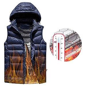 51DLZRRrlUL. SS300  - AUTRUN Man's Upgrade Electric Heated Vest Lightweight USB Rechagable Heating Warm Waistcoat Down Gilet