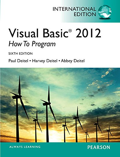 Visual Basic Deitel (Visual Basic 2012 How to Program, International Edition)