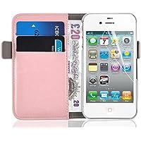 Schutzhülle iPhone 44S Schutzhülle iPhone 44S | JAMMYLIZARD | Schutzhülle Schutzhülle DELUXE Range Karten Magnetverschluss, hellrosa