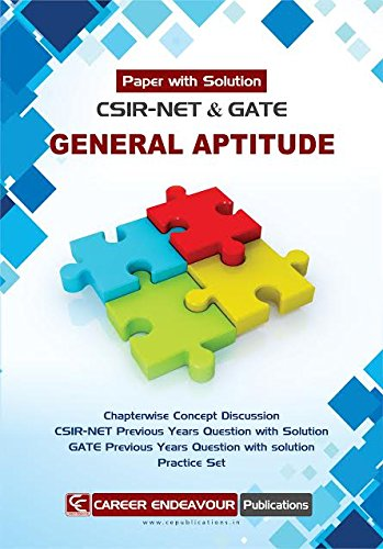 CSIR-NET & GATE General Aptitude Paper with Solution