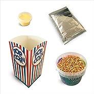 """Fun Food Italia Kit Ingredienti per la Preparazione di 10 """"Spadellate"""" Popcorn al Gusto Salato + 10"""