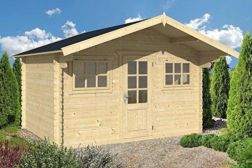 Gartenhaus ERFURT Blockhaus Holzhaus Blockhütte 380 x 300 cm - 28 mm Holz