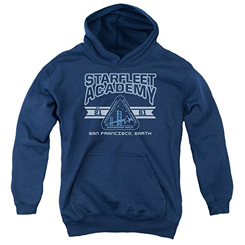 2Bhip Star Trek Next Generation TV Starfleet Academy Earth Big Boys Pull-Over Hoodie