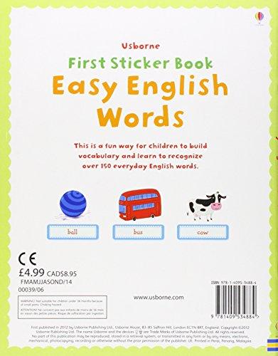First Sticker Book: Easy English Words (Usborne First Sticker Books)