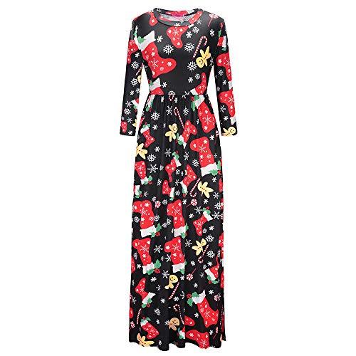 Dorame vestito lungo elegante donna cerimonia abito, maniche 3/4 vestiti stampa floreale scollo a v casual mode bohemian abiti da spiaggia sera cocktail maxi dress abito